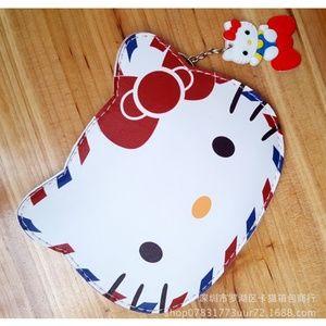Hello Kitty Double Zipper Coin/Card Bag Air Mail